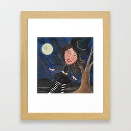 witch in the wind Framed Art Print