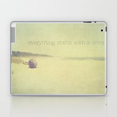 beach - everything starts with a dream Laptop & iPad Skin