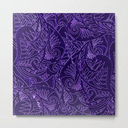 Purple Tapa Metal Print