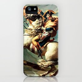 France's Napoleon Crossing the Alps iPhone Case