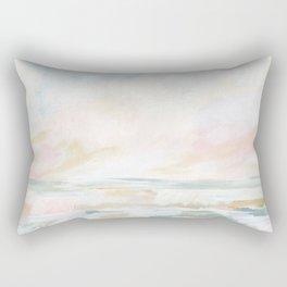 Golden Hour - Pastel Seascape Rectangular Pillow