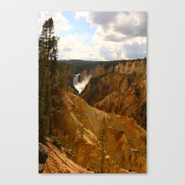Thundering Waters Of The Yellowstone River Canvas Print