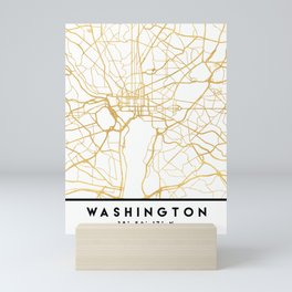 WASHINGTON D.C. DISTRICT OF COLUMBIA CITY STREET MAP ART Mini Art Print