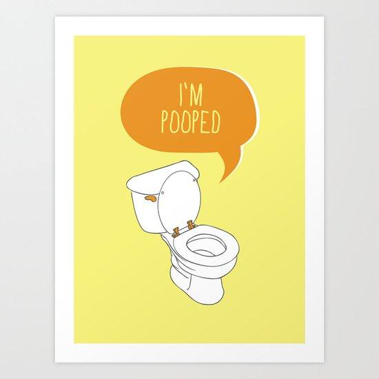 Toilet Pun Art Print