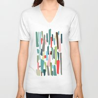 code V-neck T-shirts featuring color code by frameless