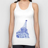 eiffel tower Tank Tops featuring Eiffel Tower by BlueShadowM