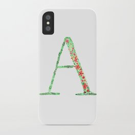 Floral Monogram Letter A iPhone Case