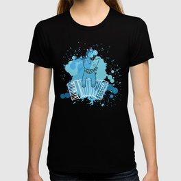 Accordion Cat Melodeon Piano Accordion Kitten Gift T-shirt