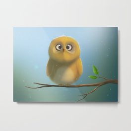 Little owl is looking at you :D Metal Print