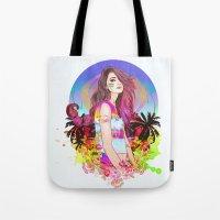 scorpio Tote Bags featuring Scorpio by Sara Eshak