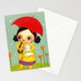 Rainy Day Bunny by tascha Stationery Cards