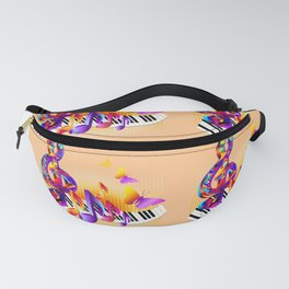 Music notes colorful design Fanny Pack