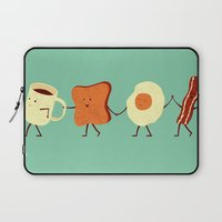 lol Laptop Sleeves featuring Let's All Go And Have Breakfast by Teo Zirinis
