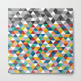 Triangles with Topper Metal Print