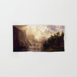 Albert Bierstadt - Among the Sierra Nevada, California Hand & Bath Towel