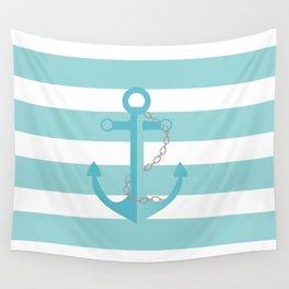 AFE Nautical Aqua Ship Anchor Wall Tapestry