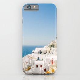 Santorini 0017: White houses in Oia, Santorini, Greece iPhone Case