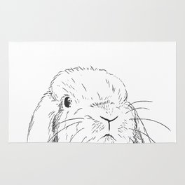 Curious Bunny Rug