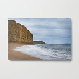 West Bay Cliffs Metal Print