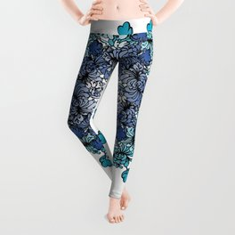 Indigo Bloom Portuguese Tiles – Porto Leggings