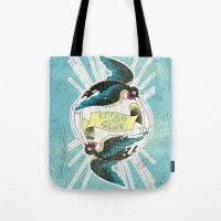 swallow Tote Bags featuring Swallow by Chiara Sgatti