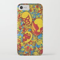 mucha iPhone & iPod Cases featuring Mucha Lucha by Guilherme Marconi