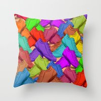 shoes Throw Pillows featuring shoes by ErsanYagiz
