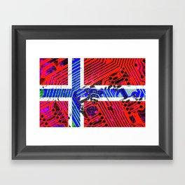 circuit board Norway (Flag) Framed Art Print