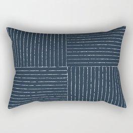 Lines III (Annapolis Blue) Rectangular Pillow