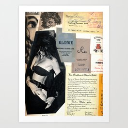 Collage work #12 of old Art Print