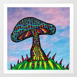 Mushroom Hill Art Print