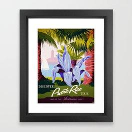 Vintage poster - Puerto Rico Framed Art Print