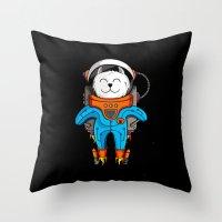 Intercatlactic! to the delicious Milky way!!! Throw Pillow