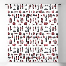 London icons illustration Blackout Curtain