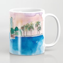 Fort Lauderdale Skyline Sunset In Florida Coffee Mug