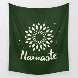 Namaste Mandala Flower Power Wall Tapestry