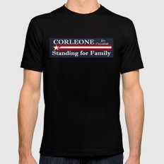 Corleone Standing for Family Black MEDIUM Mens Fitted Tee
