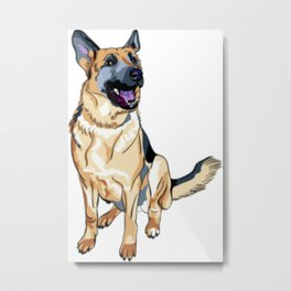 German Shepard Metal Print