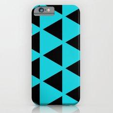 Sleyer Black on Blue Pattern iPhone 6s Slim Case