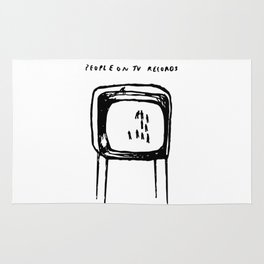 PEOPLE ON TV RECORDS Rug