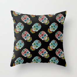 Skull Artwork Throw Pillow