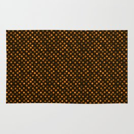 Retro Colored Dots Fabric Pumpkin Orange Rug