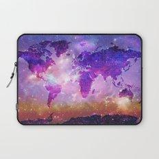 world map galaxy sky Laptop Sleeve