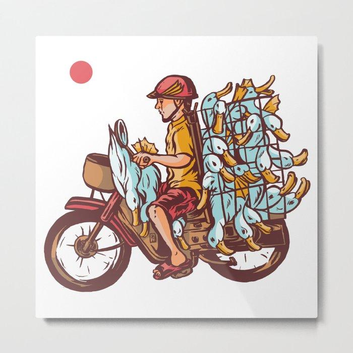 Duck Smuggler Metal Print