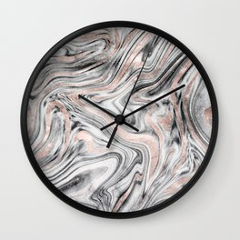 Bohemian Marble Dream #2 #decor #art #society6 Wall Clock