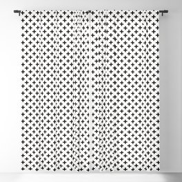 Criss Cross | Plus Sign | Black and White Blackout Curtain