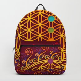 FLOWER OF LIFE, CHAKRAS, SPIRITUALITY, YOGA, ZEN, Backpack