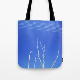 DEAD TREE UNDER POWER LINES Tote Bag