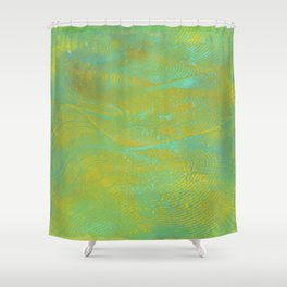 Gelatin Monoprint 24 Shower Curtain