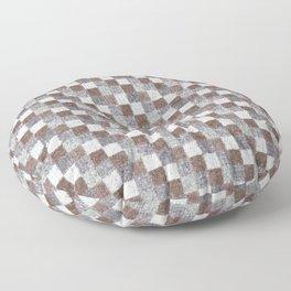 Rustic Brown Gray Beige Patchwork Floor Pillow